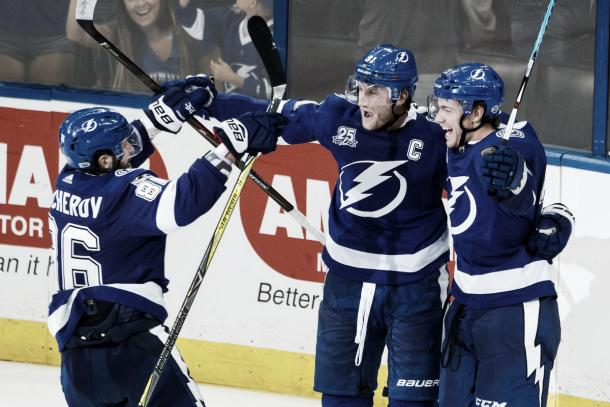 Kucherov, Point y Stamkos | Foto: Getty Images