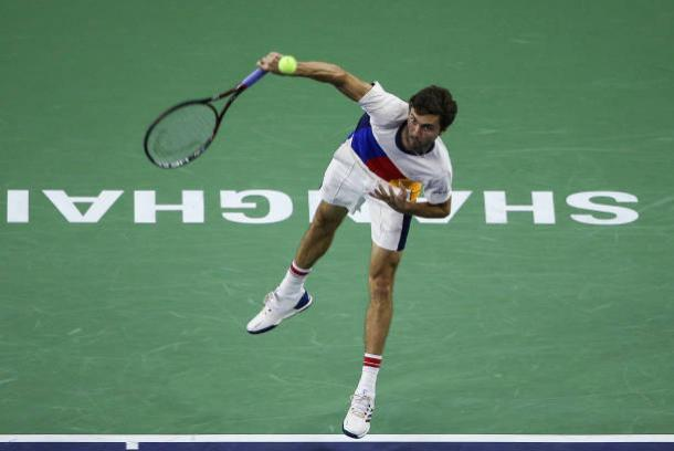 Simon recorded his best win of the season, based on rankings, against Goffin (Getty/Yifan Ding)