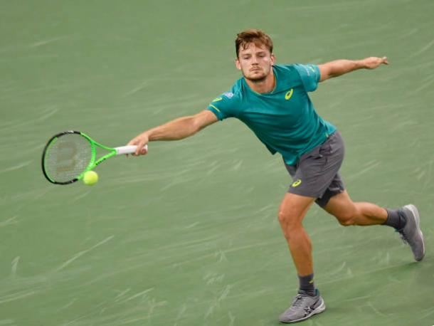 Goffin was unable to challenge Simon too much after the first set (Getty/Kevin Lee)