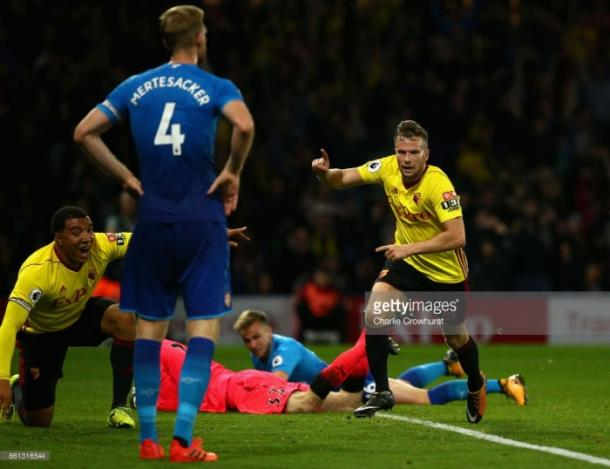 Cleverly anotó el gol de la victoria en el último minuto. Foto: Getty Image