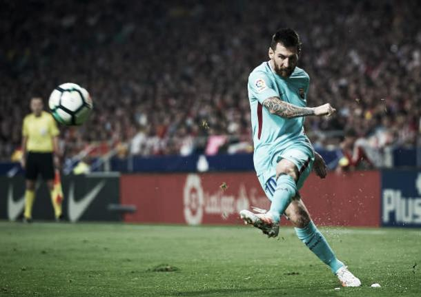 Lionel Messi tem 11 gols em 8 jogos na La Liga | Foto: fotopress/Getty Images