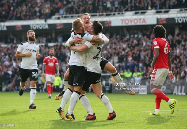 Matej Vydra scored after 24 seconds against local rivals Forest. (picture: Getty Images / Alex Livesey)
