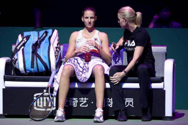 Pliskova is working with Rennae Stubbs this week (Getty/Matthew Stockman)
