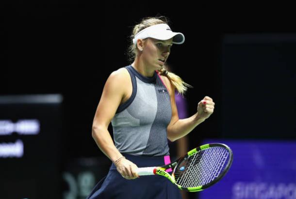 Wozniacki recorded her 11th top ten win of the season against the Ukrainian (Getty/Clive Brunskill)