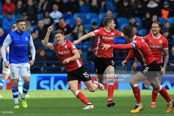 Barnes scored a stunning equaliser for Barnsley in the second-half. (picture: Getty Images / Mark Cosgrove)