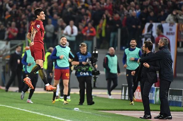 Perotti selou o caixão do Chelsea (Foto: Alberto Pizzoli/AFP)
