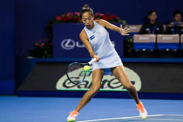 Shuai Zhang in action at the WTA Elite Trophy last season (Getty/Power Sport Images)