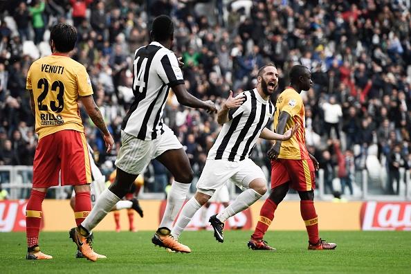 Higuaín empatou o jogo no Allianz Stadium (Foto: Daniele Badolato/Juventus FC)