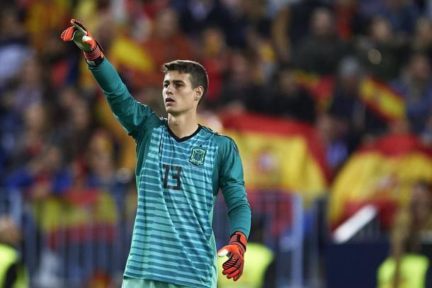 Kepa en su debut con La Roja / Fuente: SeFútbol