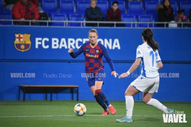Graham-Hansen, protagonista en el inicio de partido. FOTO: Noelia Déniz