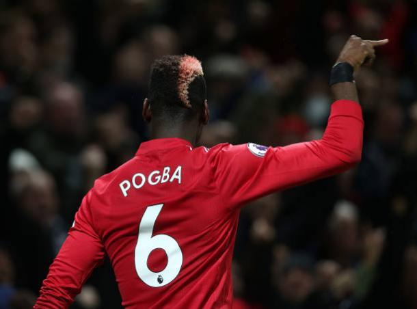 Pogba comemorou gol com estilo (Foto: Matthew Peters/Man Utd via Getty Images)