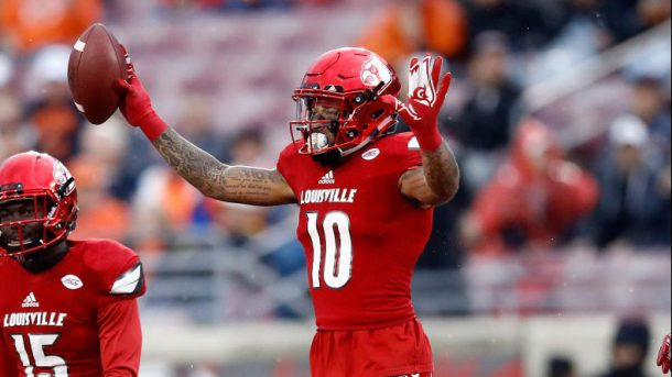 Jaire Alexander could be a Day 1 starter for the Patriots if selected | Source: Getty Images
