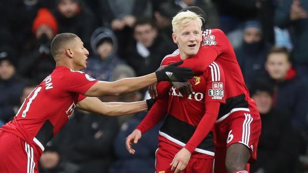 Hughes festeja su tanto ante Newcastle | Foto: PL.