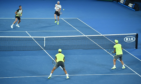 Oliver Marach and Mate Pavic in battle with Juan Sebastian Cabal and Robert Farah (Photo: Peter Parks/Getty Images)
