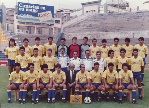 Plantilla de Las Palmas en la temporada 1988/89 | Fotografía: UD Las Palmas