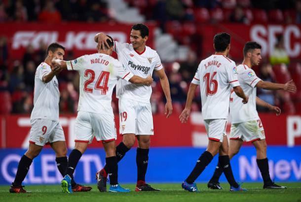 Ganso marcou um gol e deu uma assistência na vitória do Sevilla (Foto: Getty Images)
