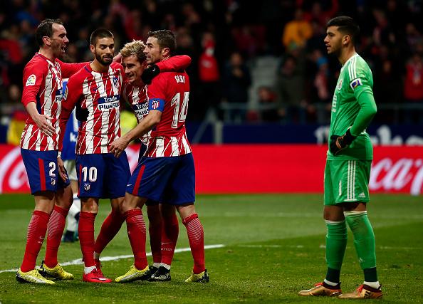 Griezmann marcou o gol da vitória do Atlético de Madrid (Foto: Getty Images)