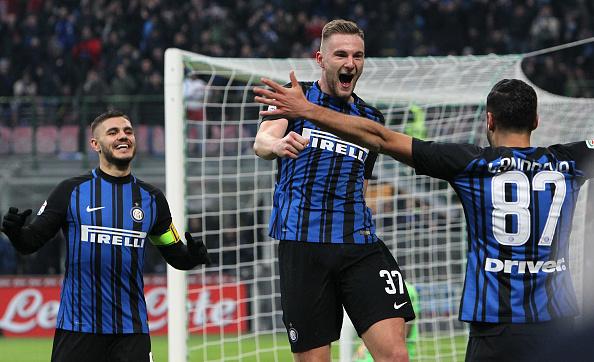 Skriniar fez o quarto gol da Inter na partida (Foto: Marco Luzzani/FC Internazionale)