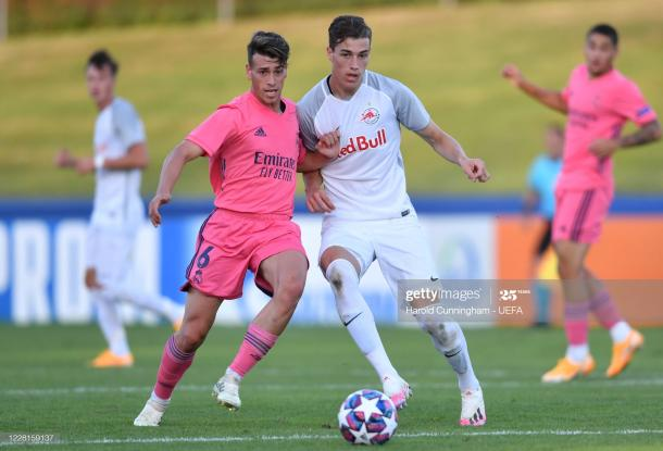 Antonio Blanco, durante la UEFA Youth League | Fuente: Getty Images