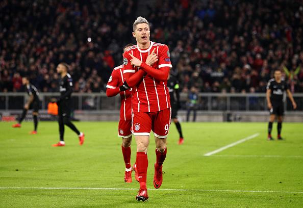 Lewandowski marcou o primeiro gol do confronto (Foto: Adam Pretty/Bongarts/Getty Images)