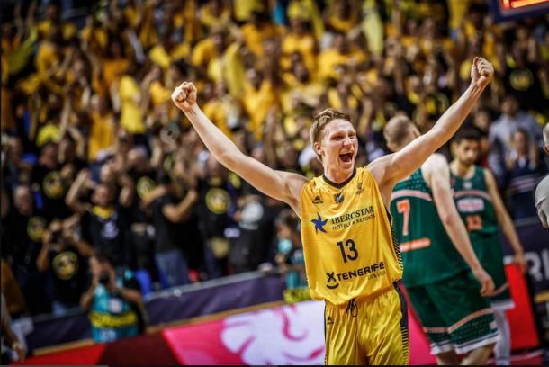 Grigonis, MVP de la Final Four, celebra una acción de su equipo | Fotografía: BCL.