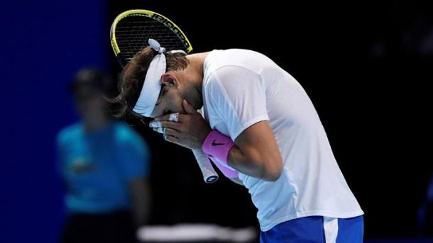 Nadal was overpowered as he opened his bid to claim the year-end #1 ranking/Photo: Tony O'Brien/Action Images via Reuters