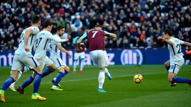 Arnautovic, el mejor de la temporada en West Ham, marcó el gol de la victoria en el London Stadium | Foto: PL.
