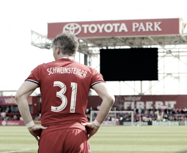 Bastian Schweinsteiger is listed as questionable for the clash with NYCFC. | Photo: