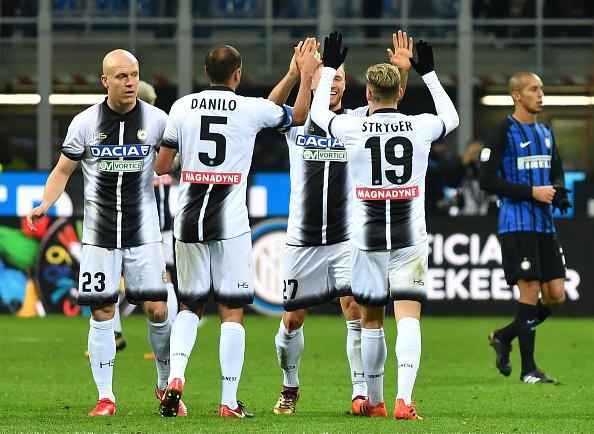 Somando Serie A e Copa Itália, Udinese chega à quarta vitória seguida (Foto: Alberto Pizzoli/AFP)