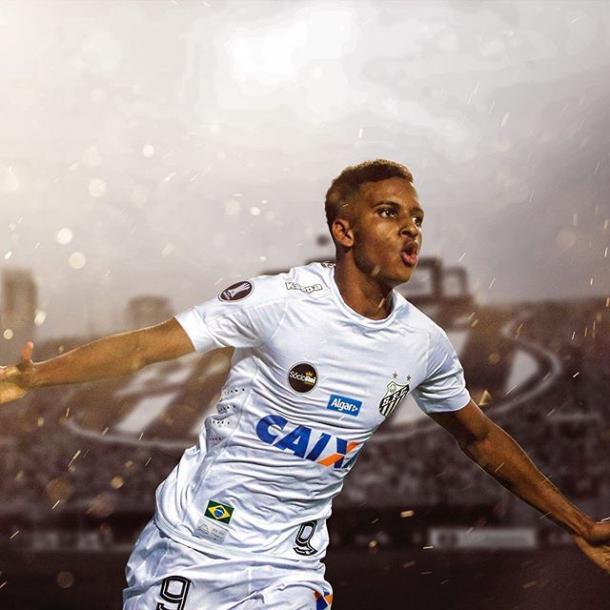 Rodrygo es el jugador más joven en haber marcado en la Copa Libertadores | Foto: @ rodrygogoes