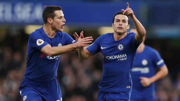 Pedro marcó el tercero de los Blues   Foto: Premier League.