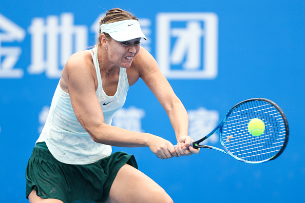 Maria Sharapova in her debut at the Shenzhen Open | Photo: Zhong Zhi / Getty Images AsiaPac