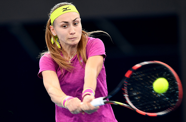 Aleksandra Krunic in action during her second-round match against Muguruza | Photo: Bradley Kanaris/Getty Images AsiaPac
