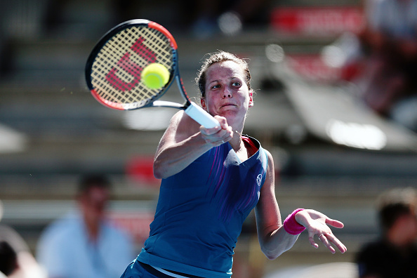 Barbora Strycova in action during her marathon victory | Photo: Anthony Au-Yeung/Getty Images AsiaPac