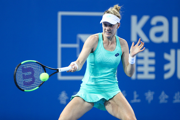 Alison Riske in action during her match against Sharapova, where she failed to convert her opportunities | Photo: Zhong Zhi / Getty Images AsiaPac