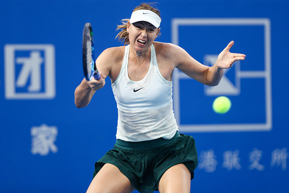 Maria Sharapova was struggling throughout the encounter, but did well to come through eventually | Photo: Zhong Zhi / Getty Images AsiaPac