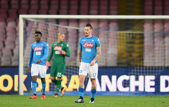 Napoli amarga eliminadora dolorosa em casa (Foto: Francesco Pecoraro/Getty Images)