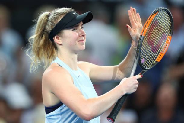 Svitolina celebrates her second round win over Ana Konjuh (Getty/Chris Hyde)