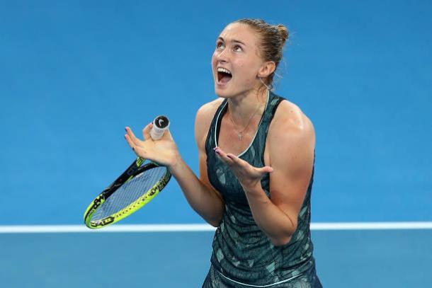 Sasnovich celebrates her semifinal victory over Anastasija Sevastova (Getty/Chris Hyde)