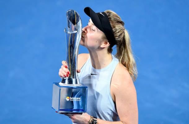 Svitolina won the Brisbane International title heading into the tournament (Getty/Bradley Kanaris)