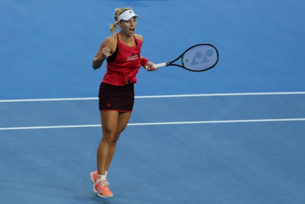 Kerber did not drop a set in singles rubbers this week, impressing many with her performances (Getty/Will Russell)