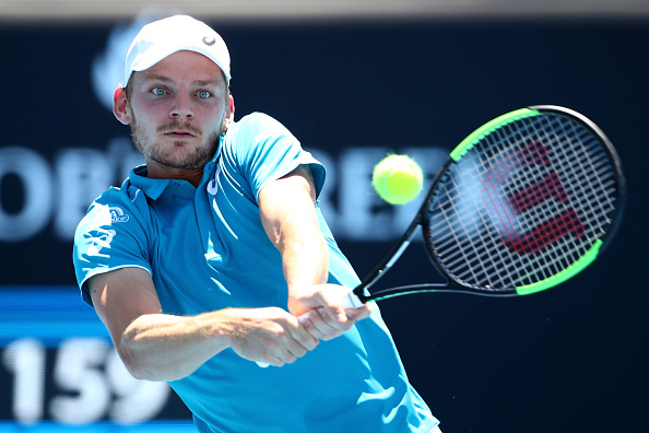 David Goffin hitting a shot at the Australian Open (Photo: Cameron Spencer/Getty Images)