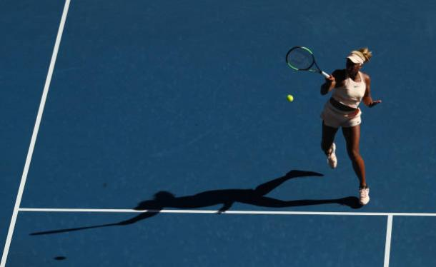 Destanee Aiava's full force forehand | Photo: Ryan Pierse/Getty Images