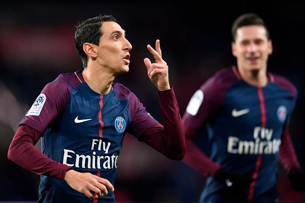 Di María marcou os dois primeiros gols do PSG (Foto: Christophe Simon/AFP)