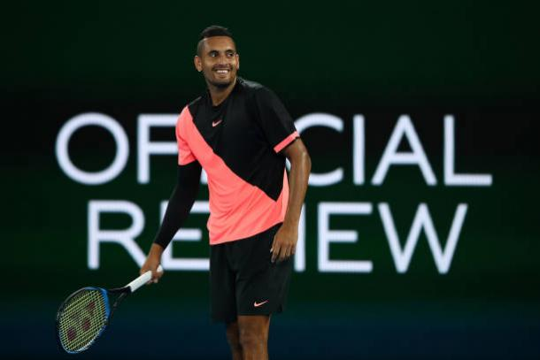 Kyrgios has impressed so far (Getty/Cameron Spencer)