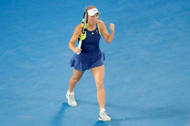 Wozniacki is one match away from her first Australian Open quarterfinal since 2012 (Getty/Darrian Traynor)