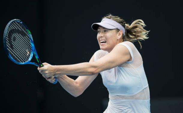 Sharapova could do very little as she was simply outplayed by her fellow Australian Open champion (Getty/Xin Li)