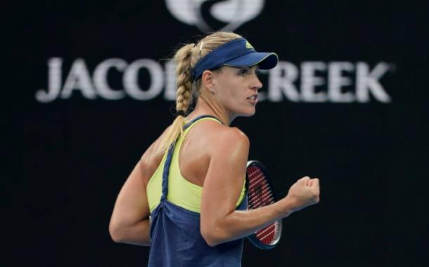 Kerber has arguably been the best player of 2018 so far and will be one of the favorites for the title after cruising into the fourth round (Getty/Xin Li)