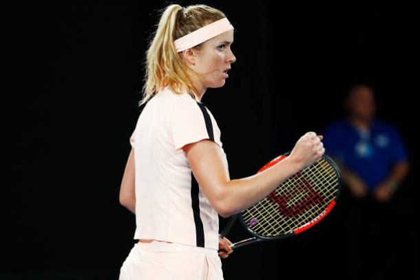 Svitolina produced a commanding performance to reach the last eight (Getty/Michael Dodge)