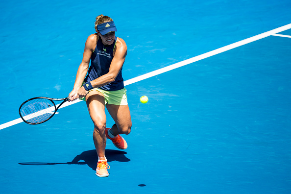 Angelique Kerber in action during her quarterfinal match at the Australian Open. (Photo: Getty Images/Icon Sportswire)